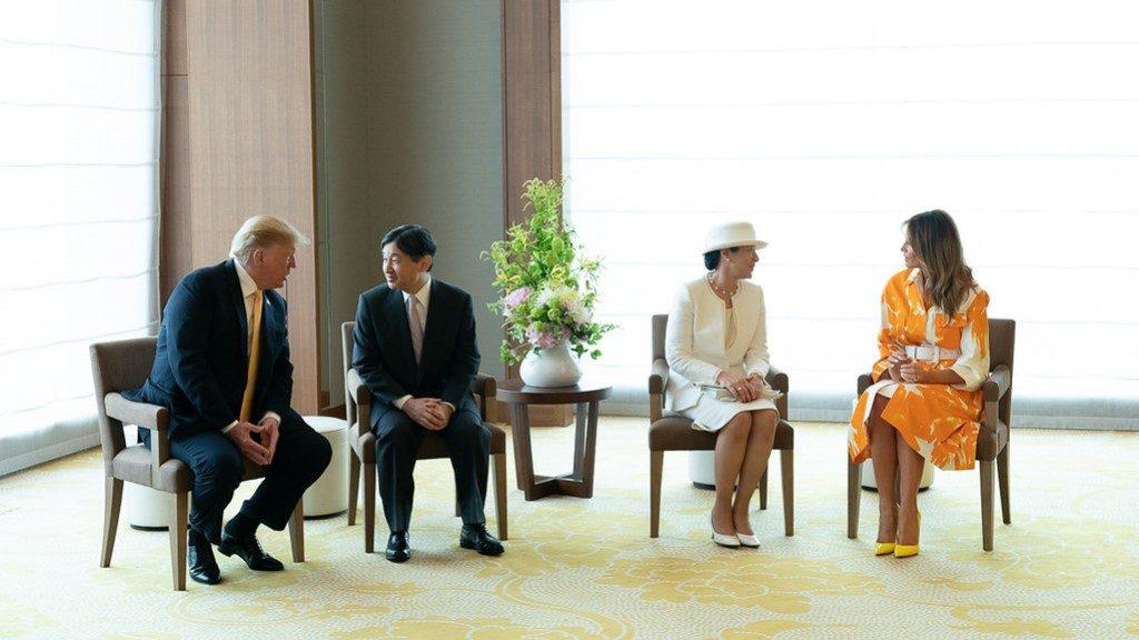 Emperor Naruhito and Empress Masako of Japan at Palace Hotel Tokyo - The White House