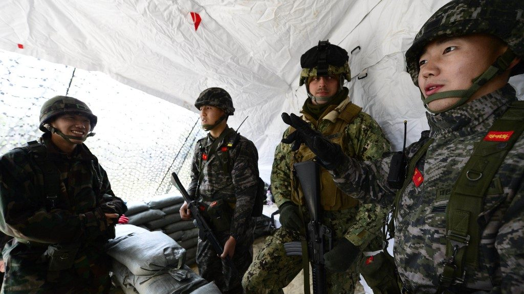 Foal Eagle Port - S.Korea and US Joint Security Watch - Shore Exercise - UNC -CFC - USFK