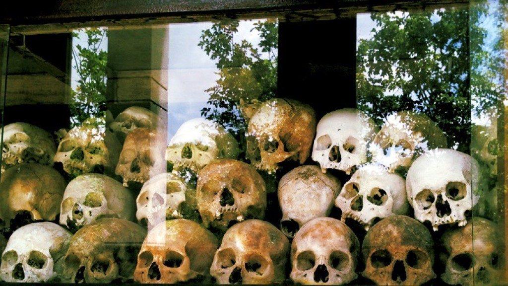 Khmer Rouge Killing Fields  Skulls