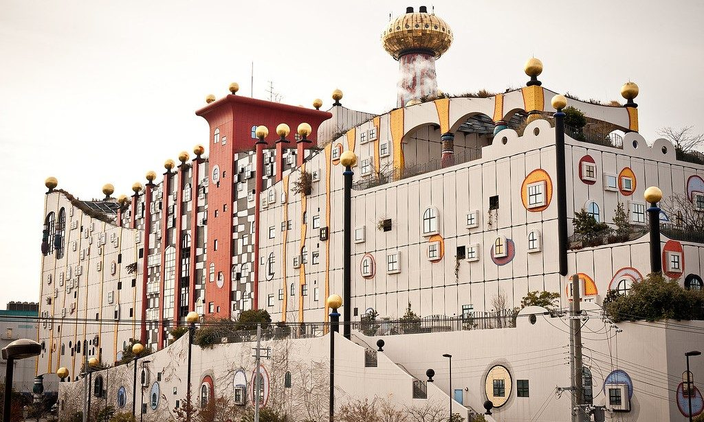 Maishima Incineration Plant redesigned by Viennese artist Friedensreich Hundertwasser - Mashima Island Project