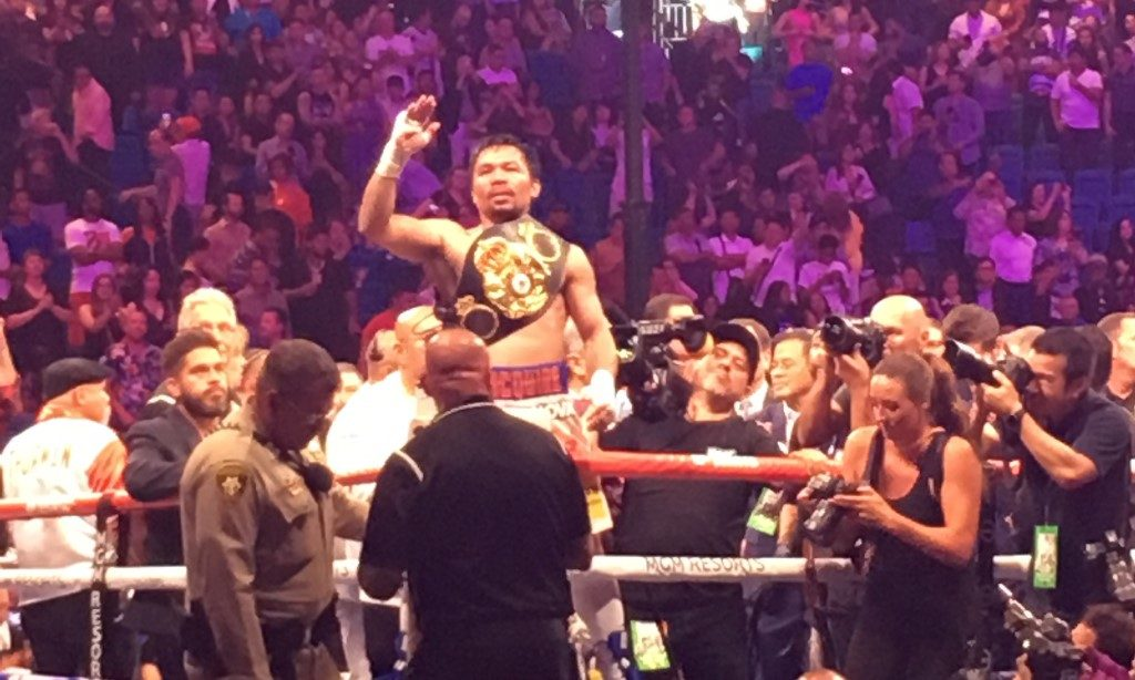Manny Pacquiao Victory Over Keith Thurman