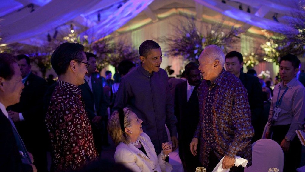 Singapore Minister Mentor Lee Kuan Yew at APEC Leaders Dinner Singapore 2009 - Official White House Photo