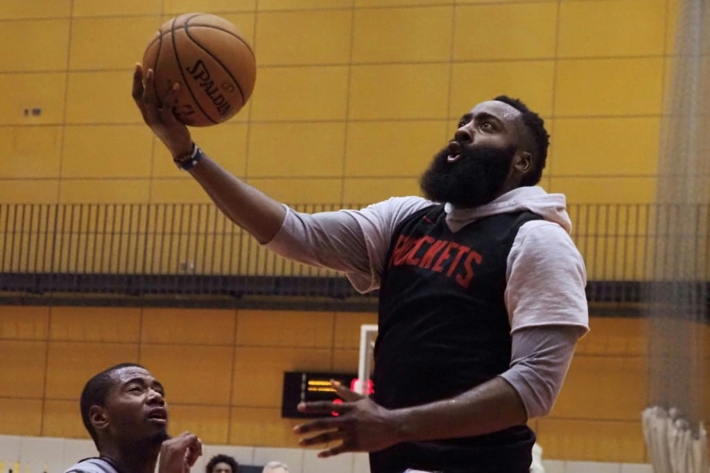 The Rockets are in Japan to play two exhibition games this week against the Toronto Raptors