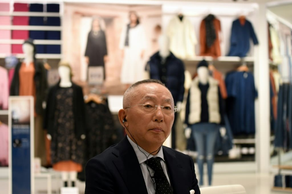 AFP  Tadashi Yanai, the billionaire founder of Uniqlo's operator Fast Retailing attended the store's opening