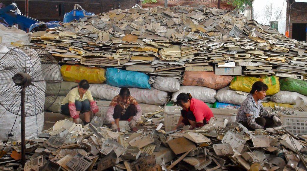 Women sorting Plastics for Melting - Guangzhou, China
